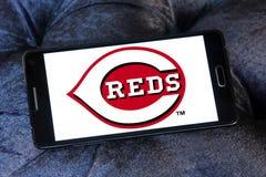 Cincinnati Reds baseball team logo. Logo of Cincinnati Reds team on samsung mobile. The Cincinnati Reds are an American professional baseball team stock images