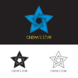 Logo of cinema's star Royalty Free Stock Image