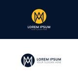 Am logo circle sign vector company icon. Am logo sign vector company icon Royalty Free Stock Image