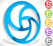 Logo circulaire coloré pour des concepts de technologie avec des vers de découpe Photo libre de droits