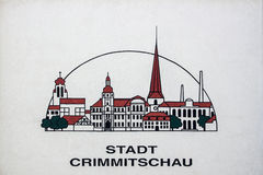 Logo of the city of Crimmitschau, Germany, 2015 Stock Photo