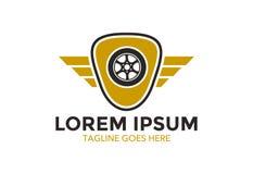 Logo classique unique et exceptionnel de voiture Illustration de vecteur editable illustration libre de droits