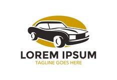 Logo classique unique et exceptionnel de voiture Illustration de vecteur editable illustration de vecteur