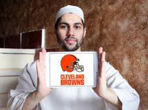 Cleveland Browns american football team logo royalty free stock photography