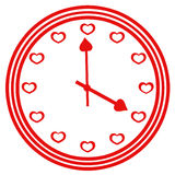 Logo clock heart Royalty Free Stock Images