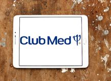 Club Med tourism company logo. Logo of Club Med tourism company on samsung tablet. Club Med is a private French company specializing in premium all inclusive royalty free stock photos
