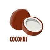 Logo Coconut-landbouwbedrijfontwerp Royalty-vrije Stock Afbeeldingen