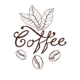 Logo Coffee Arkivbild