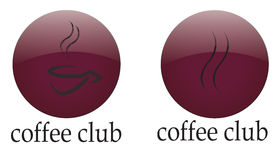 Logo coffee club Royalty Free Stock Image
