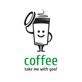 Logo coffee cup. Royalty Free Stock Image