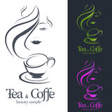 Logo Coffee e chá Imagem de Stock Royalty Free