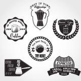Logo Coffee Set Royalty Free Stock Photo