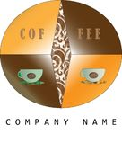 Logo coffee unique. Vector image. It is the most inspiring thing for every blogger, designer and developer. Tasty and fragrant cup of this beverage will bring stock illustration
