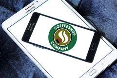 Coffeeshop Company logo. Logo of Coffeeshop Company on samsung mobile. Coffeeshop Company is an Austrian family enterprise and part of the Schärf Group of Stock Image