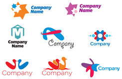 Logo Collection 01. Useful signs for various companies and graphic designers Royalty Free Illustration