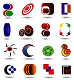 Logo Collection. Collections of many detailed logos in different shapes and colours Stock Photo