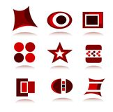 Logo Collection. Collections of many detailed logos in different shapes and colours Stock Photography