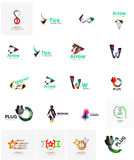 Logo collection, abstract geometric business icon Stock Images