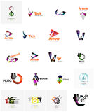 Logo collection, abstract geometric business icon Stock Photos