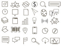 Logo collection black and white. Vector illustration Royalty Free Stock Photography