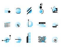 Logo collection-blue Royalty Free Stock Image
