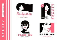 Logo Collection Cosméticos e forma Imagens de Stock Royalty Free