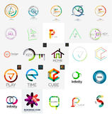 Logo collection, geometric business icon set Stock Photo