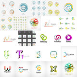 Logo collection, geometric business icon set Royalty Free Stock Photos