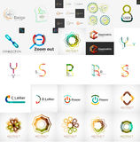 Logo collection, geometric business icon set Stock Image