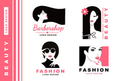 Logo Collection Kosmetik und Mode Lizenzfreie Stockbilder