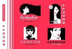 Logo Collection Schoonheidsmiddelen en manier Royalty-vrije Stock Foto