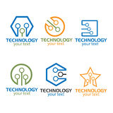 Logo Collection Technology Industry. Logo collection, technology Logo,brain logo,creative logo,Vector Logo Template Royalty Free Stock Images