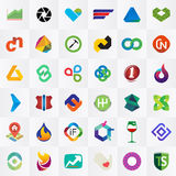 Logo collection Royalty Free Stock Photo