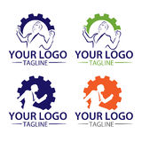Logo collection work royalty free stock image