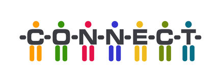Logo collegato della gente Fotografia Stock