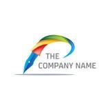 Logo coloré de stylo Photos stock