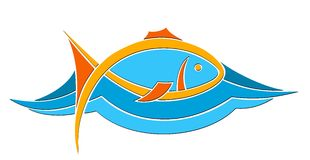 Logo of color fish. Stock Photography