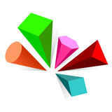 Logo. Color geometrical figures of an unusual form Royalty Free Stock Photos