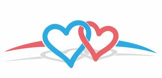 Logo color hearts.