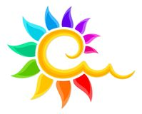 Logo of the color sun.