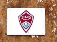 Colorado Rapids Soccer Club logo. Logo of Colorado Rapids Soccer Club on samsung tablet. The Colorado Rapids are an American professional men`s soccer team stock photo