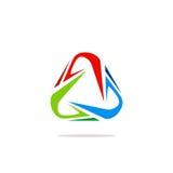 Logo colorato estratto del triangolo del cerchio Immagine Stock