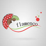 Logo colors fans. Logo colors Spanish fans. Flamenco Stock Photos