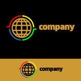 Logo Communication Company royalty free stock image