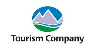 Logo - compagnie de tourisme/course Images libres de droits