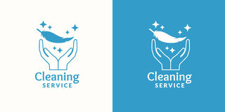 Logo for company cleaning service. Royalty Free Stock Images