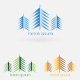 Logo for the company , construction and nature. Vector Stock Image