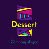 Logo for a company that produces desserts. Vector Royalty Free Stock Image