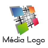 Logo di media Fotografia Stock