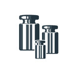 Logo con i pesi Fotografia Stock